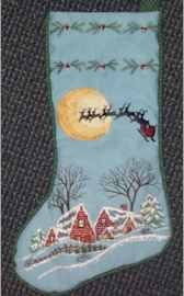 Snow Cottages Christmas Stocking