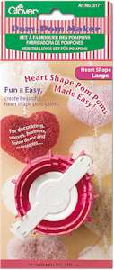 Clover Heart Shape Pom Pom Maker Large