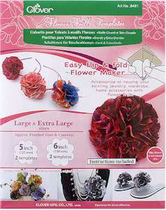 Clover Flower Frill Templates Large and Extra Large
