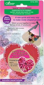 Clover Quick Yo-Yo Maker Heart Shaped Large
