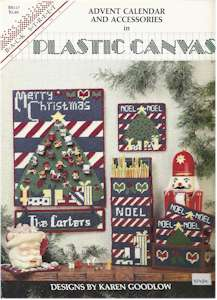 Advent Calendar and Accessories in Plastic Canvas