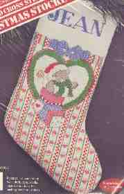 Banar Bear Hearts Stocking