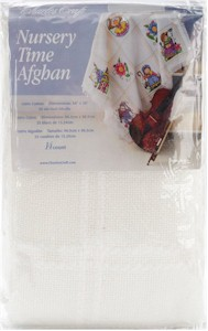 Nursery Time Baby Afghan Antique White