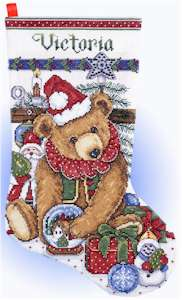 Victorian Bear Stocking