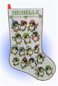 Skating Penguin Stocking