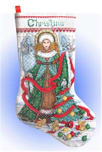 Christmas Angel Stocking