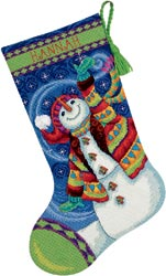Happy Snowman Stocking