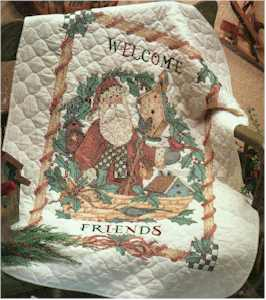 Santa's Welcome Quilt