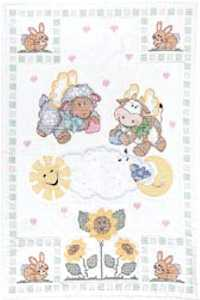 Crib Quilt Top Heavenly Cratures