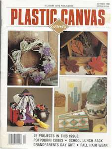 Plastic Canvas Corner Volume 1, Number 5, Oct 1990