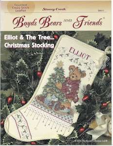 Boyds Bears - Elliot & The Tree ... Christmas Stocking