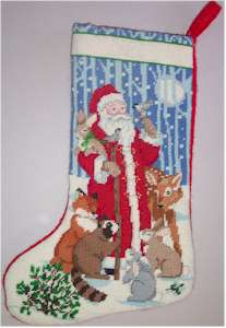 Santa and Forest Friends Stocking Model