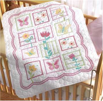 Sophie Crib Cover Stamped Cross stitch Kit