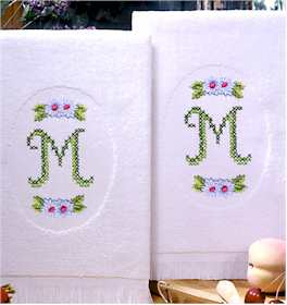 Monogram Terry Accent Towels