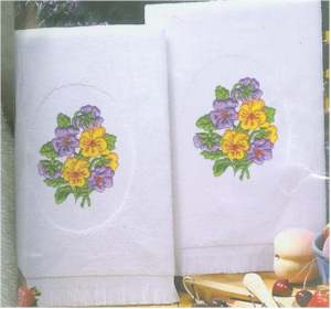Pansies Terry Accent Towels