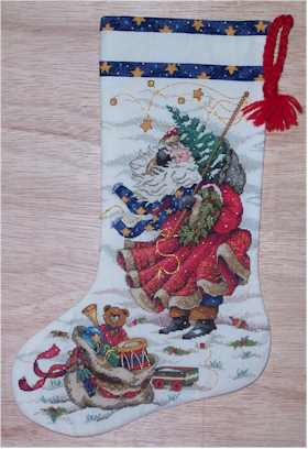 Windswept Santa Stocking Model