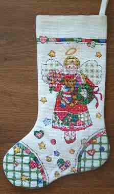 Counted cross st Angel Stocking