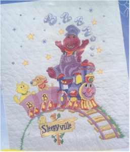 Sleepyville Train Baby Quilt