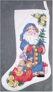 Blue Santa Stocking Model