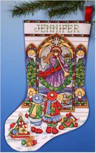 Stained Glass Window Stocking