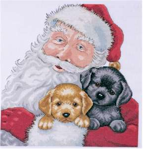 Santa With Puppies