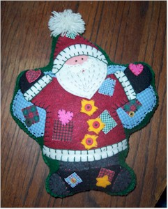 Felt applique Santa Pillow
