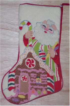Santa Gingerberead House Stocking Model