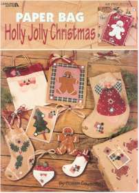 Paper Bag Holly Jolly Christmas - Click Image to Close