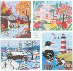 Lovely Seasons In Long Stitch