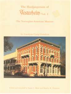 The Hardangersom of Vesterheim Vol. I
