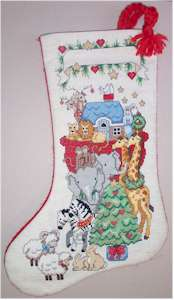 Noah's Ark Christmas Stocking Model