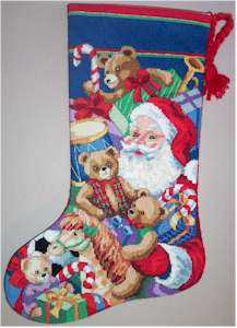 Santa and Toys Stocking Model
