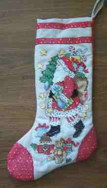 Santa Stamped Model Stocking