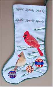 Cardinal Christmas Stocking